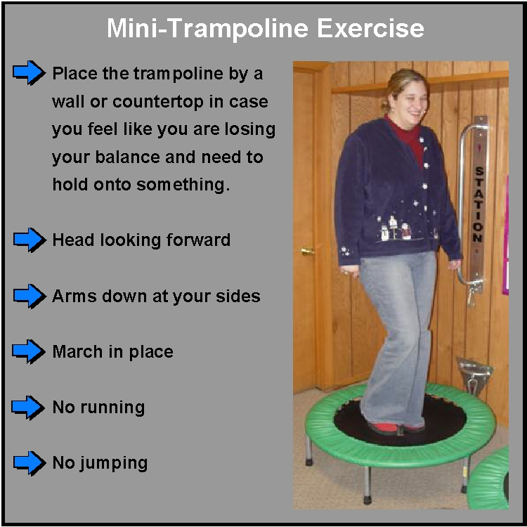 Mini-Trampoline Exercise For Spinal Disc Pain