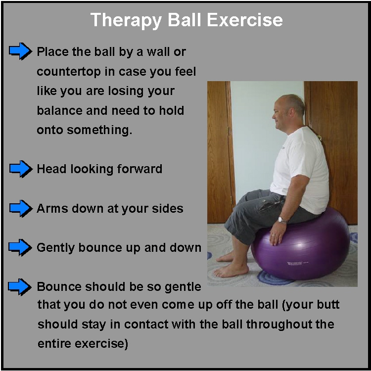 Therapy Ball Exercise For Spinal Disc Pain